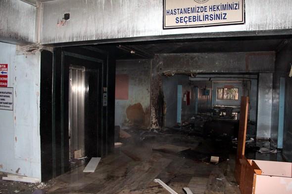 Teröristler devlet hastanesini yaktı galerisi resim 7