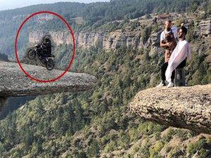 100 metre yükseklikte tehlikeli gösteri