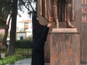 Atatürk Anıtı'na saldırmıştı...