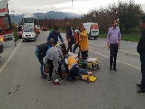 Bursa'da kaza:2 yaralı!
