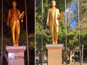 Atatürk Heykeline saldırıda yeni gelişme