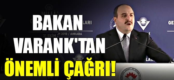 Bakan Varank'tan önemli çağrı!