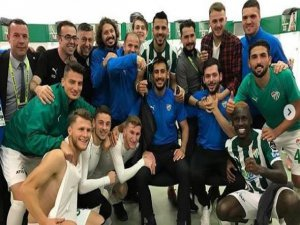 Bursaspor'da 3 puan coşkusu