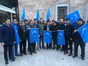 Bursa'da Çin protesto edildi