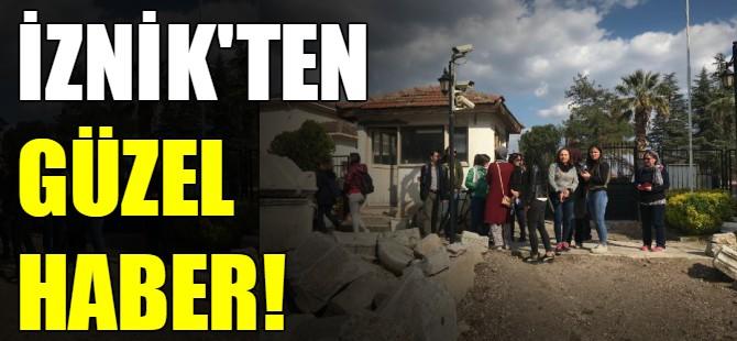 İznik'ten güzel haber!