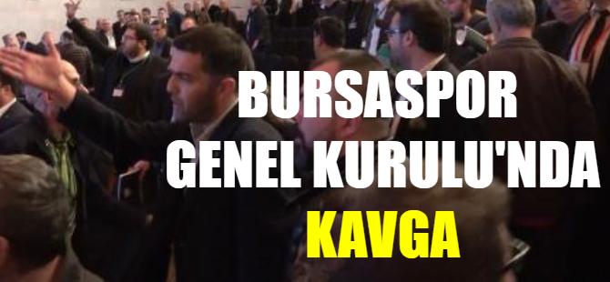 Bursaspor Genel Kurul'unda kavga