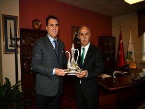 Yenişehir Başkanı'ndan Dündar'a ziyaret