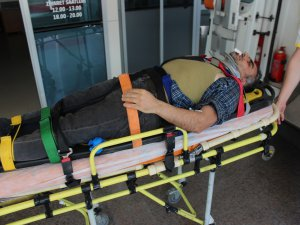 Bursa'da 4 metreden yere çakıldı