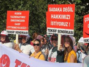 Bursa'daki o işçiler eylemde