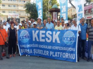 Bursa'da KESK üyeleri toplusözleşme taleplerini açıkladı