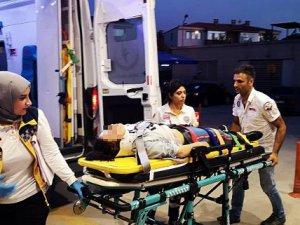 Bursa'da bir baba kızını hastanelik etti!