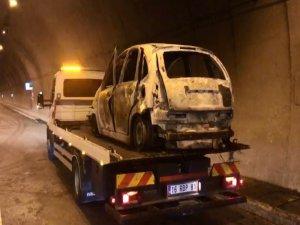 Bursa'da araç yangını!