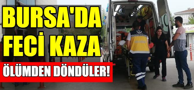Bursa'da abi-kardeş ölümden döndü