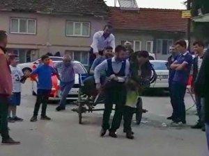 Bursa'da damada düğün öncesi işkence!