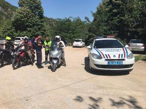 Bursa'da jandarmadan motosiklet uygulaması