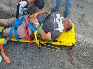 Bursa'da kaza! 50 metre ileri fırladı