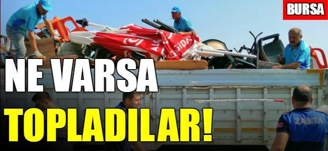 Bursa'da sahil işgâline geçit yok
