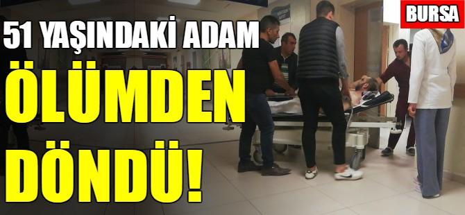 Bursa'da ağaçtan düşen adam ölümden döndü!