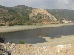 Boğazköy barajında korkutan manzara