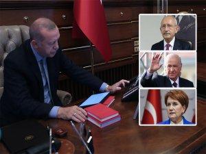 Erdoğan siyasi parti liderlerini aradı