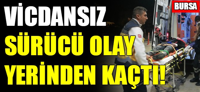 Bursa'da motosikletli kurye yaralandı