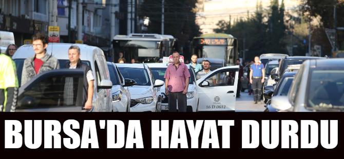 Bursa'da 09.05'te hayat durdu