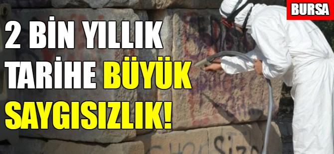 Bursa'daki kral mezarının hali içler acısı