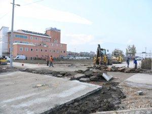 Bursa'da ilk beton yol kaplaması