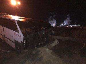 Bursaspor taraftarları kaza yaptı