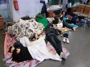 Bursa'da terminale sığındılar!