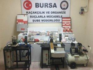 Bursa'da kaçakçılık operasyonu