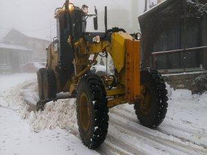 Bursa'da karla mücadele