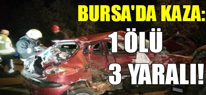 Bursa'da otomobil ile kamyonet kafa kafaya çarpıştı.