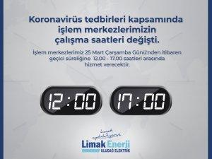 Limak Enerji çalışma saatlerini değiştirdi