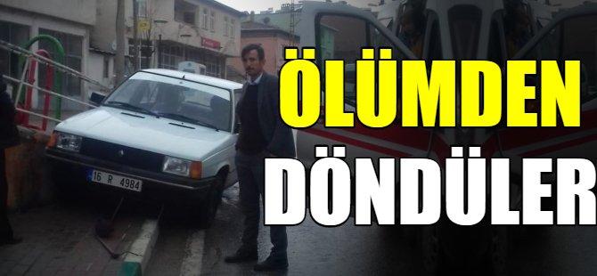 Bursa'da bir aile ölümden döndü
