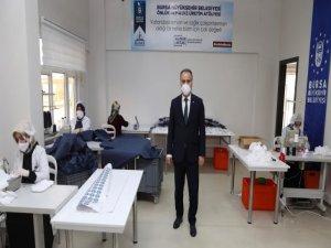 Bursa, kendi maskesini üretiyor
