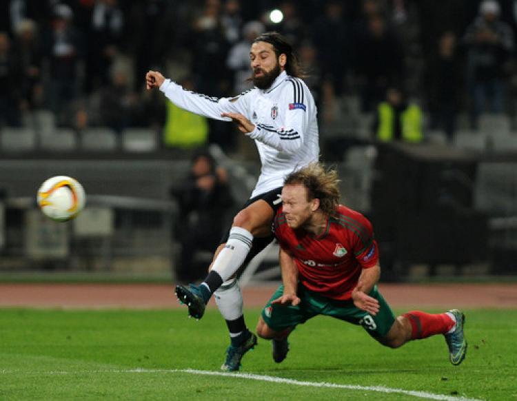 Beşiktaş: 0 - Lokomotiv Moskova: 0 (İlk yarı)
