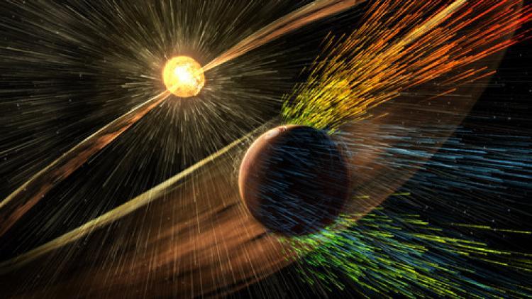 Mars'taki atmosferi Güneş rüzgarları yok etti
