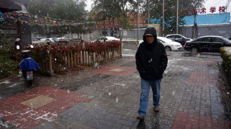 Pekin'e mevsimin ilk karı yağdı