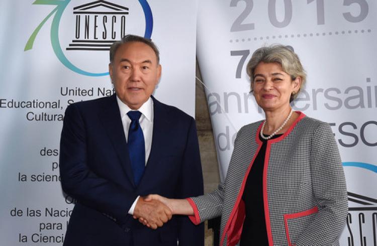 Nazarbayev, UNESCO Başkanı Bokova ile görüştü