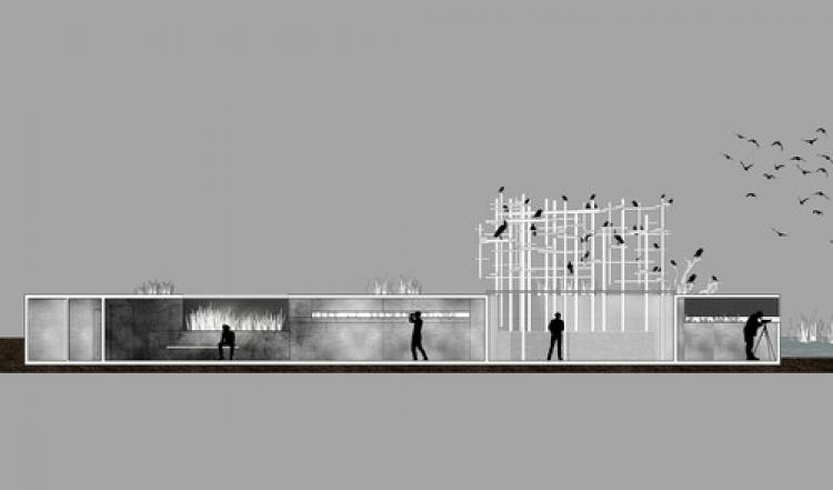 İzmir Kuş Cenneti için doğaya uyumlu gözlemevi tasarladılar