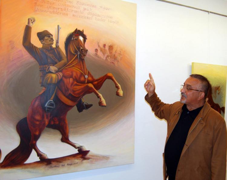 Ressam Durmuş Ali Akça, 27'nci kişisel sergisini açtı