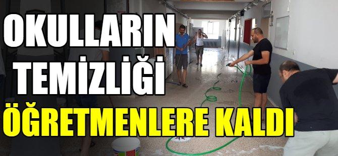 Okulların temizliği öğretmenlere kaldı!