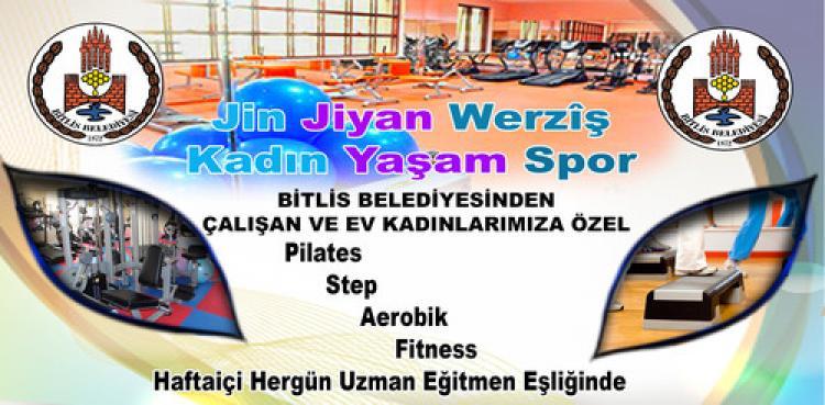 Bitlis Belediyesi'nden kadınlara spor kursları