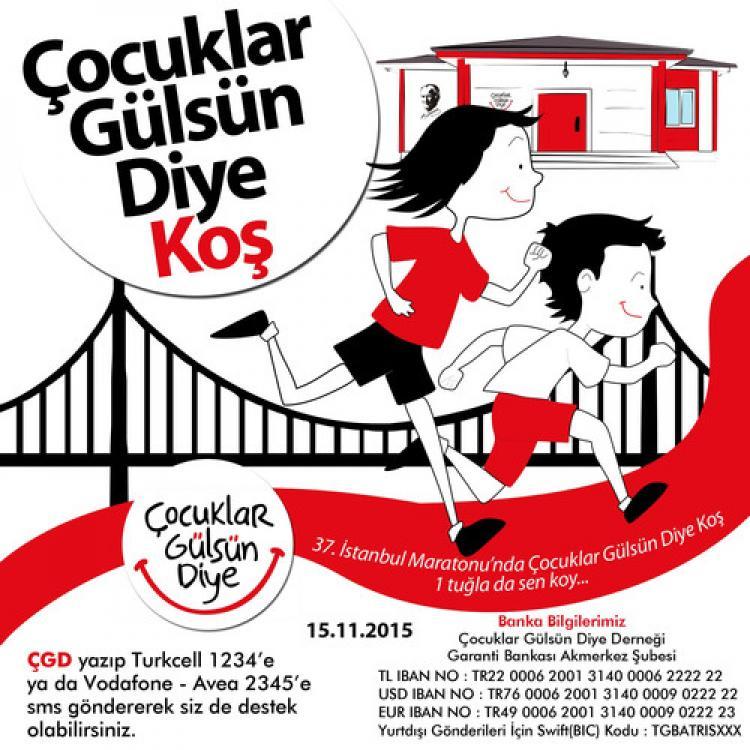 """""""Vodafone İstanbul Maratonu'nda çocuklar gülsün diye koş"""""""