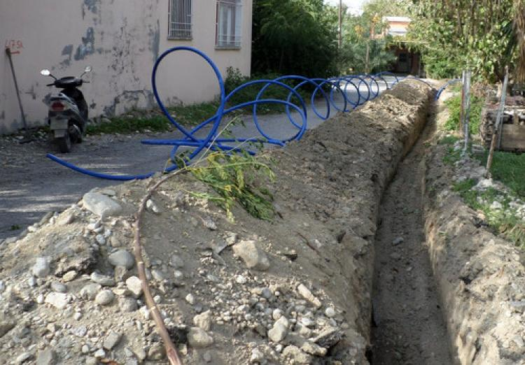 Arsuz'da içme suyu çalışmaları sürüyor