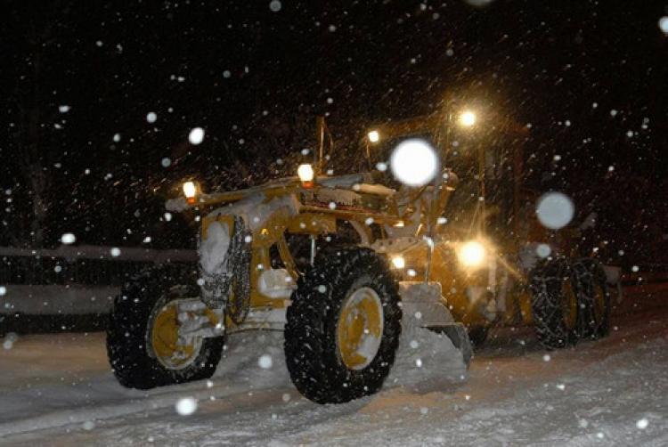 Erciyes'te kar kalınlığı 10 santimetre