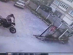 Motosiklet hırsızları iş başında!