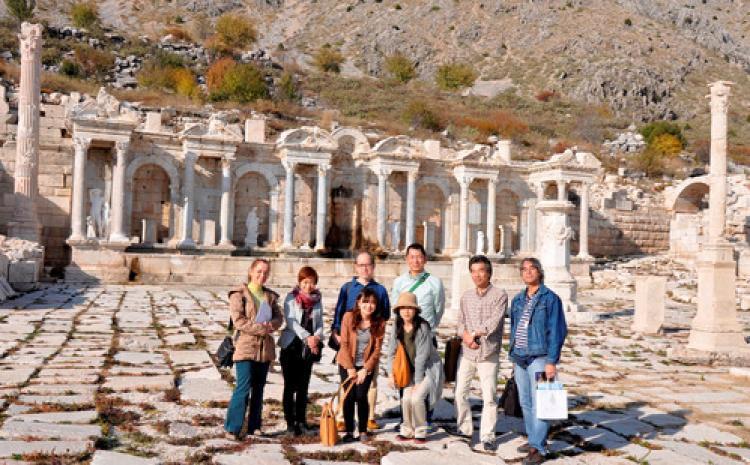 Japon seyahat acenteleri, Antalya ve Burdur'da tarihi ören yerleri gezdi