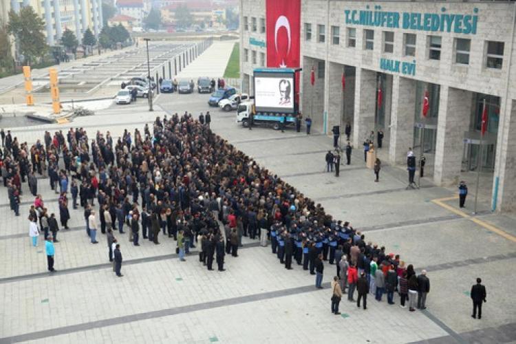 Atatürk Nilüfer'de de anıldı